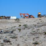 Bulldozers in the Negev Desert November 2015