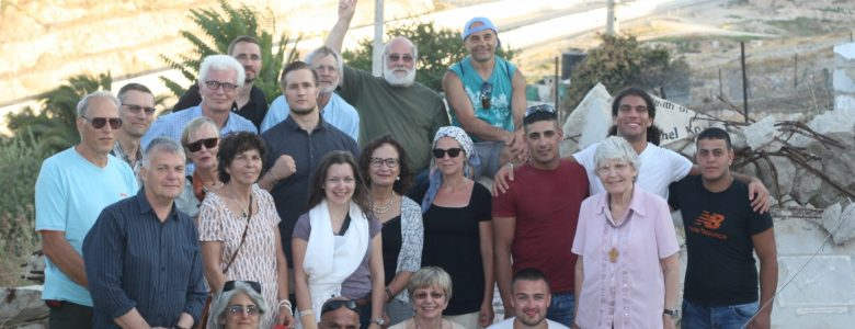 Participants from the ICAHD rebuilding camp for internationals