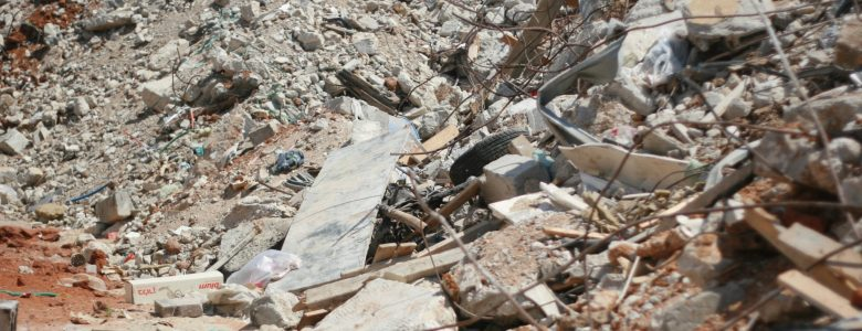 Rubble left in Dahmash after multiple homes were demolished in 2015